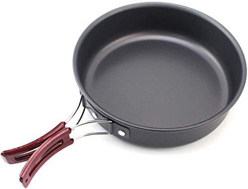 Jooyouo-TH Camping Pots & Pans Kamp Kookgerei Outdoor Camping Frying Pan Picknick Draagbare Pan Picknick Stove Anti-aanbaklaag Pan Fried Steak Set Pot