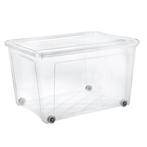 Tontarelli Aufbewahrungs Box 145L C/Deckel und Rädern Kühlschrank transparent
