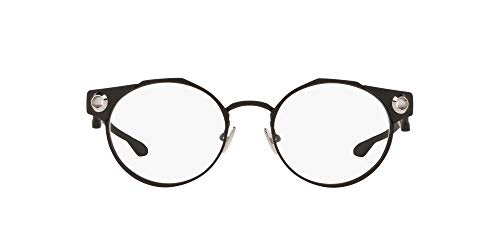 Oakley Men's OX5141 Deadbolt Titanium Round Prescription Eyeglass Frames, Satin Black/Demo Lens, 52 mm
