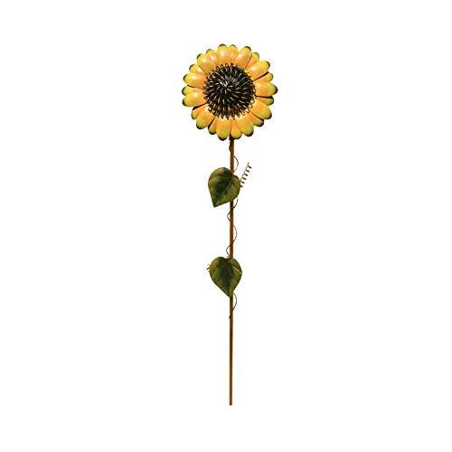 "21"" Sunflower Stake Garden Decor Sunflower Yard Stake Outdoor Decor Metal Yard Art"