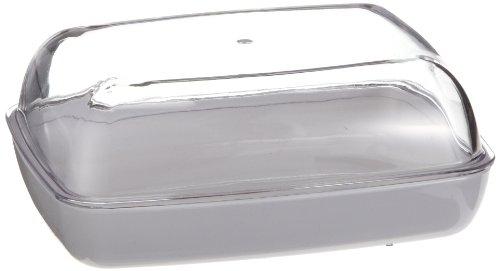 Emsa 505261 Butterdose, Kunststoff, 13.5 x 10 x 6 cm, Transparent/Weiß, Vienna