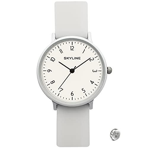 SKYLINE, Reloj Pulsera con Correa de Goma, Unisex,...