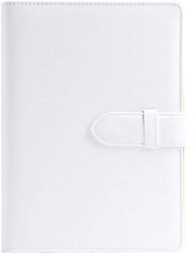 Cuaderno de estudiante de tapa dura, diario de escritura de papel grueso de alta calidad A5, para escuela, oficina, hogar, color blanco, tamaño A5
