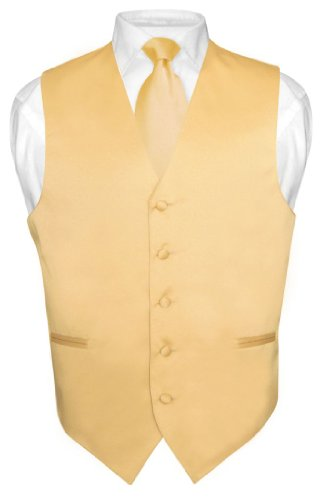 Top gold vest and tie for 2020