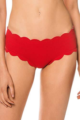 Marysia Women's Reversible Spring Boyshort Bikini Bottom Cherry/Cherry Gingham XS