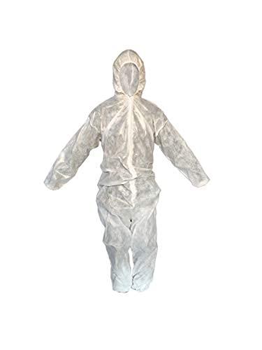 MVC Pack*2 Mono/Buzo de protección en Polipropileno TNT (Tejido no Tejido),  Desechable/Monouso,  Talla Única Unisex,  Fabricado en España