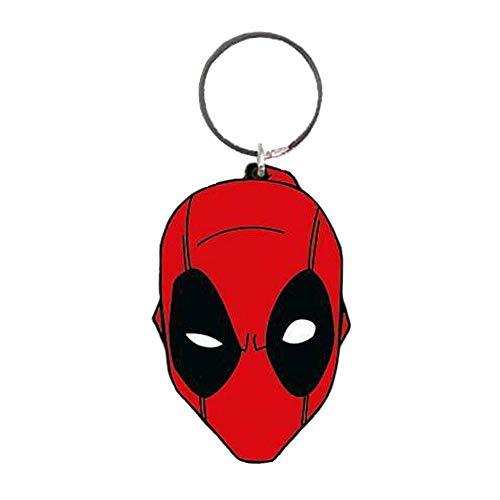 Original Marvel Comics Deadpool Face Schlüsselanhänger aus Gummi