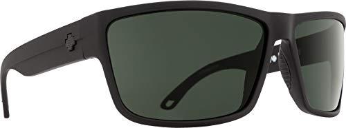 Spy Optic Rocky Sunglasses, Matte Black/Happy Gray/Green, 64 mm