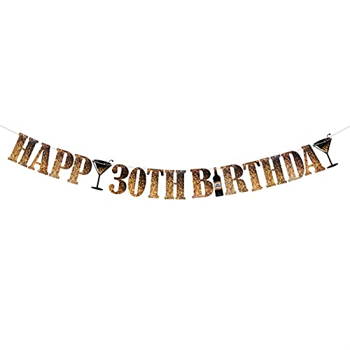 DUOYINGMY Bannières 1/18/21/30/40/50/60 Année Joyeux Anniversaire Papier Bunting Guirlande Bannières Drapeaux pour Douche Baby Douche Adulte Fournitures de fête d'anniversaire Adulte (Color : D)