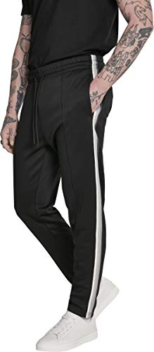 Urban Classics Side Taped Track Pants Pantalon, Multicolore (Blk/Gry 00029), 56 (Taille Fabricant: X-Large) Homme