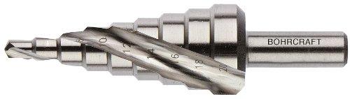 Stufenbohrer HSS, spiralgenutet Abstufung 2 mm Gr. 3A-S / 4-30 mm im Köcher 1 Stück