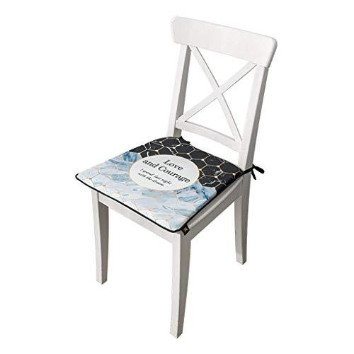 Cojín de silla exquisita 38 * 42 * 44cm Taburete de estudiante de oficina Silla transpirable Silla de cojín Silla de amortiguador Mapa de mesa con espesos Cojín de asiento práctico (Color: B) LNNDE
