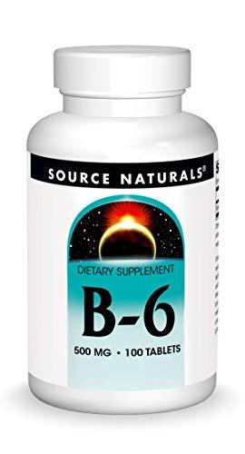 Source Naturals, Vitamin B-6 (stufenweise wirksam), 500mg, 100 Veg. Tabletten