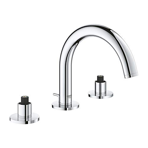 GROHE 20072003 Atrio 8″ Widespread Two-Handle Bathroom Faucet S-Size, Starlight Chrome