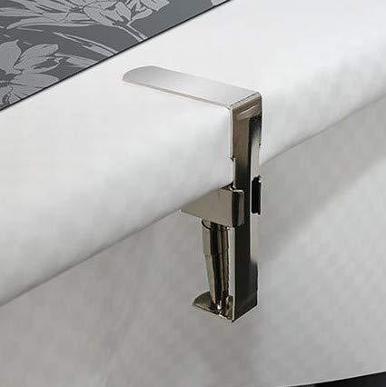 DecoHomeTextil d-c-fix 4er Set Feder Tischtuchklammern Tischdeckenklammern Tischabdeckungsklemmen Tischdecke Clips Edelstahl
