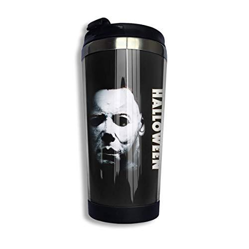 Halloween Michael Myers Kaffeetassen Edelstahl Wasserflasche Tasse Reisebecher Kaffeebecher mit auslaufsicherem Deckel