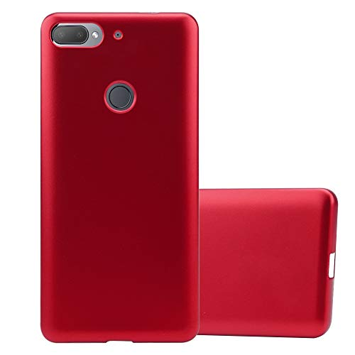 Cadorabo Hülle für HTC Desire 12 Plus in METALLIC ROT - Handyhülle aus flexiblem TPU Silikon - Silikonhülle Schutzhülle Ultra Slim Soft Back Cover Hülle Bumper