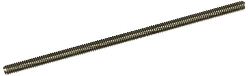 18-8 Stainless Steel Fully Threaded Stud, #8-32 Thread Size, 4