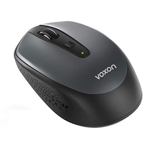 VOXON Mouse Bluetooth, Mini Mouse Wireless Portatile, 1600 DPI 3 Livelli Regolabili, 4 Pulsanti, 24 Mesi di Durata della Batteria, 2.4G