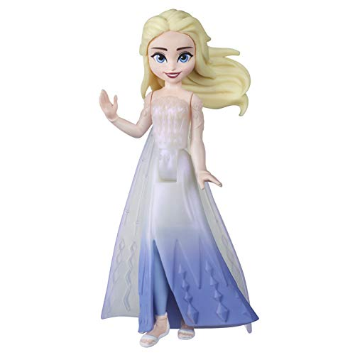 Disney Frozen Queen Elsa Small Doll with Removable Cape Inspired by Frozen 2 Movie, Toy for Kids 3 and Up