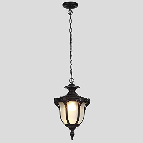 B-D American Antieke Outdoor plafondhanglamp waterdicht anti-roestglas hanglampen Europese Villa landschap gang kroonluchter verlichting E27 binnenverlichting buitenverlichting
