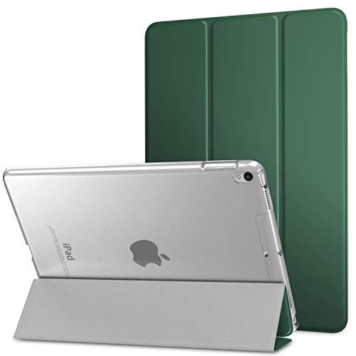 MoKo Cover per New iPad Air (3rd Generation) 10.5  2019   iPad Pro 10.5 2017, Ultra Sottile Leggero Custodia con Funzione di Auto Sveglia Sonno con Retro Semi-trasparente Rigido - Pino verde