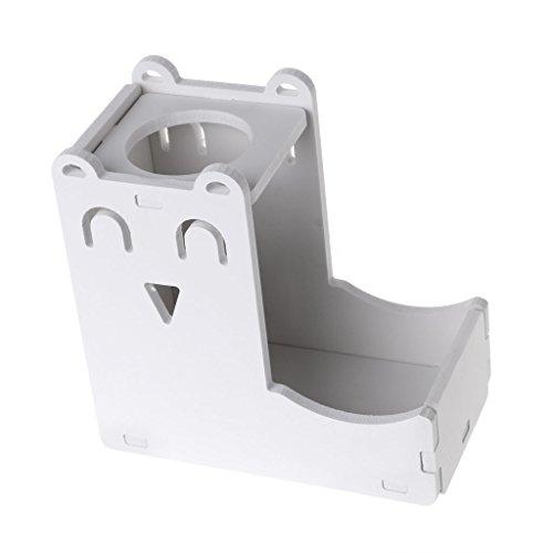 planuuik Kleine Huisdier Water Fles Houder Hamster Konijn Voedsel Feeder Dispenser Nest Speelgoed Wit