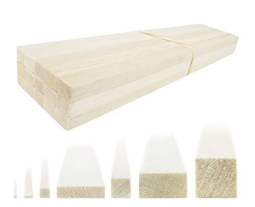 War World Scenics Balsa Holzstreifen 6,5mm x 1,5mm x 305mm - 45er Pack - Modellbau Bastelholz Holz