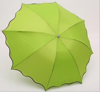 TC Couleur Vert Pliant Coupe-Vent Anti UV Effacer/Pluie coréenne Dentelle Princesse Parasol Parapluie Vert Tub-002
