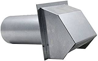 Hooded Wall Vent with Spring Loaded Damper, Gasket and Screen - Galvanized 10 inch