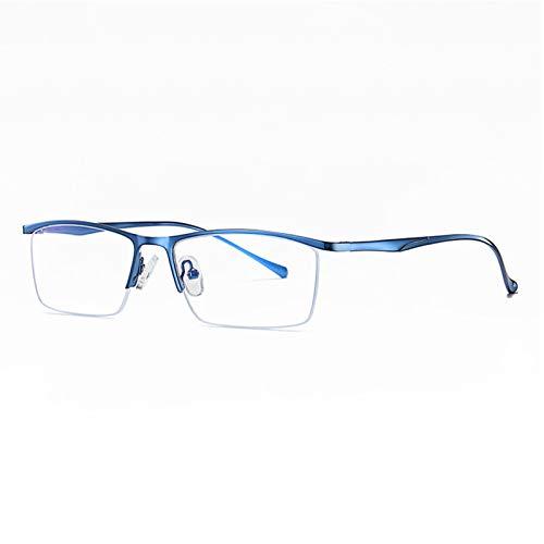 XJZHANG Gafas de Lectura Anti-Azul para computadora, Gafas con Filtro de luz Azul, Gafas para computadora con Bloqueo UV, lectores de anteojos para Hombres