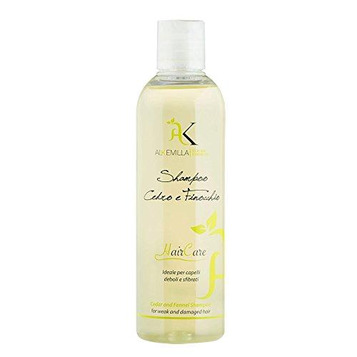 Alkemilla Shampoo Bio e Finocchio, Trasparente, Cedro, 250 Millilitri