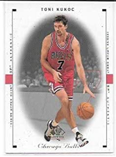 2ed4b9ebec1 Toni Kukoc 1998-99 SP Authentic Chicago Bulls Card  20