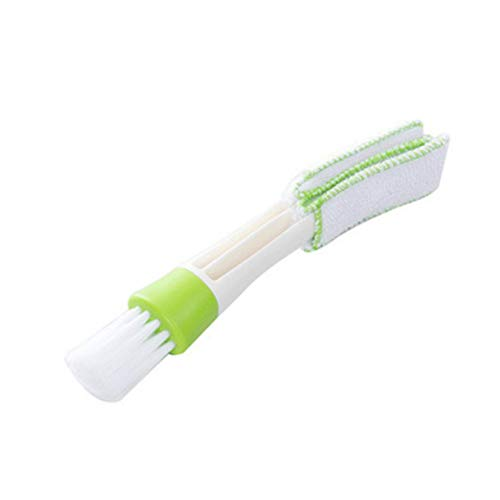 Double tête voiture climatisation brosse sortie persienne instrument brosse à poussière brosse de climatisation brosse clavier