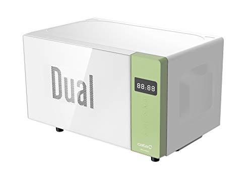 Cata Microondas independiente | Modelo MM 5120M DG verde | 20 litros de capacidad | 5 niveles de potencia | Superficie de cristal blanco | 45 cm de ancho