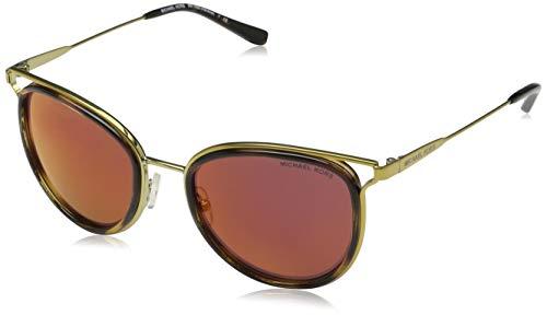 Michael Kors Havana 1204D0 52 Gafas de Sol, Dorado (Gold Tone/Dark Tortoise/Burgundy Mirror), Mujer