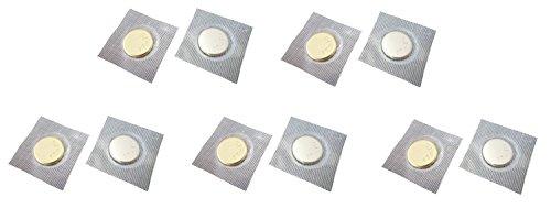 AOSNAP マグネットボタン 隠しマグネット 縫い付けタイプ 14mm 5個セット