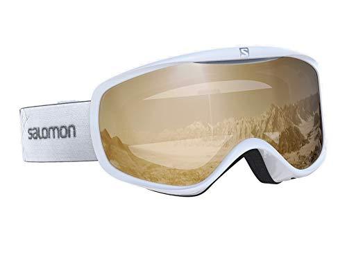 Salomon Damen-Skibrille Für verschiedenste Wetterverhältnisse, Airflow-System, SENSE ACCESS, Einheitsgröße, Weiß/Universal Tonic Orange