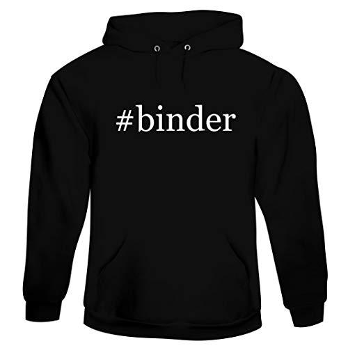 #binder - Men's Hashtag Hoodie Sweatshirt, Black, Large