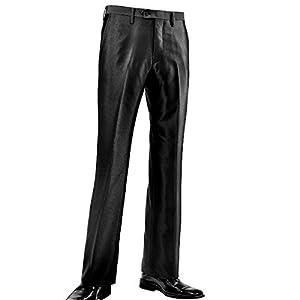 スラックス ノータック ブーツカット スリム 光沢 無地 ノータックフレアパンツ メンズ ブラック黒 953000 73