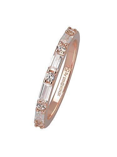 XENOX XS1970R/54 Damen Ring Silber 925 Rose weiß Zirkonia 17,2 mm Größe 54