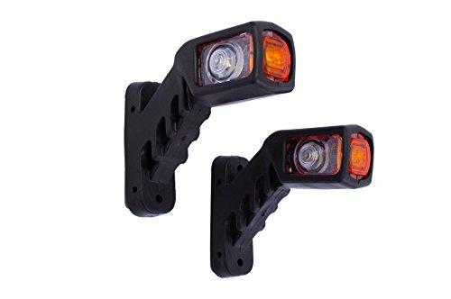 2 x 12V/24V LED Begrenzungsleuchten Positionsleuchten Kurz Anhänger Seitenmarkierungsleuchten E-Prüfezeichen