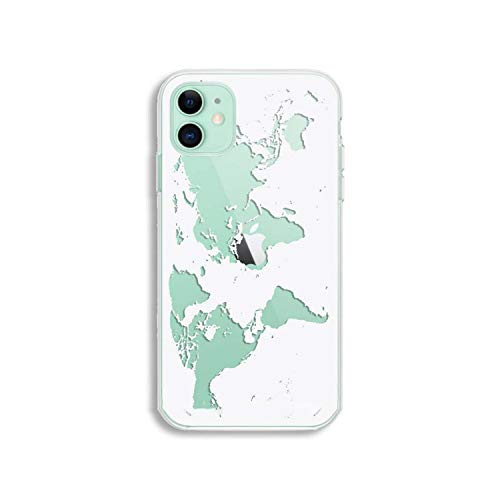 All-Equal World Map Travel Soft Tpu telefoonhoesje voor iPhone 11 Pro Xr Xs Max 6 7 8 Plus Clear Silicone Cover, For iPhone 11 Pro, 30149