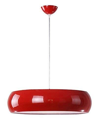 Lámpara Iluminación colgante moderna nordica Rosca E27 para el Restaurante Dormitorio Sala de Estudio Loft Pasillo 45 cm diámetro color rojo 45209