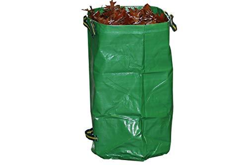 Gruener Schlauch Gartensack 120 Liter / 270 Liter *** Selbständig stehende robuste Ausführung mit Polypropylen (PP)-Gewebe 260g/m² *** Grünschnitt Laubsack Sack für Gartenabfälle (1 x 120 Liter)