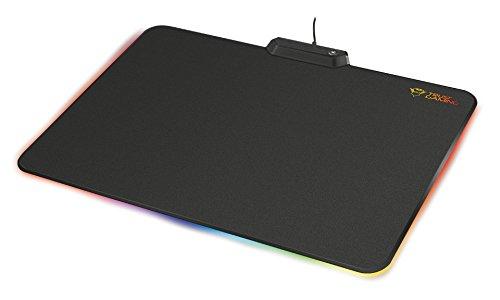 Trust Glide GXT 760 Beleuchtetes RGB Mauspad (Größe: 350x250 mm, Regenbogen-Welle, Farbzyklus und 7 feste Farben)