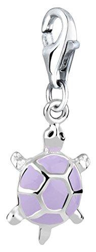 Nenalina Charm Schildkröte Anhänger in 925 Sterling Silber für alle gängigen Charmträger 714097-001