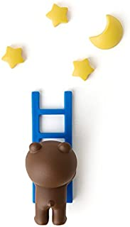 LINE FRIENDS Refrigerator Magnets - Brown Character Star and Moon Decorative Magnet Set