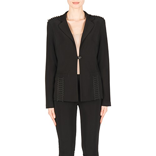 Joseph Ribkoff One Button Silky Knit Black Blazer Style 183228