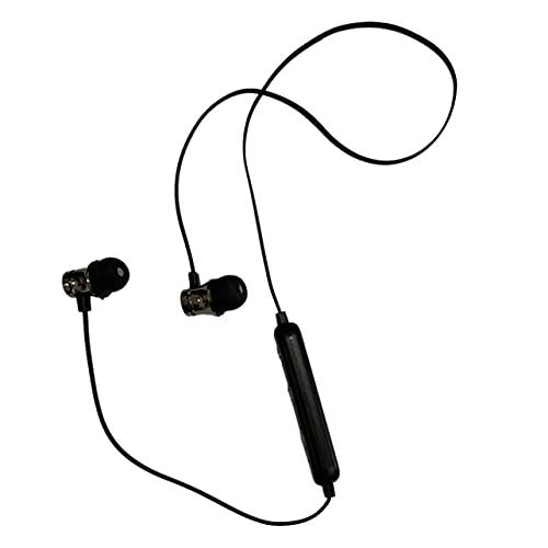 Cuffie Bluetooth Sport Cuffie senza fili Auricolari con microfono Riduzione intelligente del rumore, 2-3 ore di riproduzione per palestra Esecuzione di sport all'aria aperta Allenamento - Nero